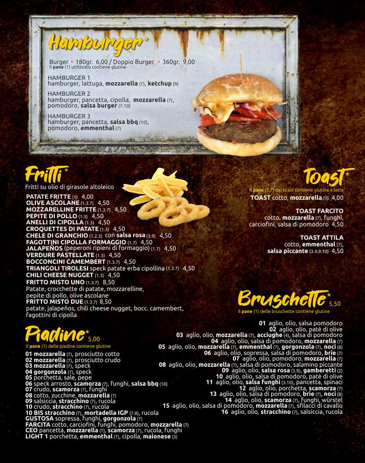 Birrolandia menu web