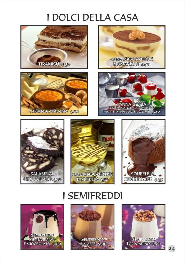 Re Artù menu web Dolci Torte Gelati