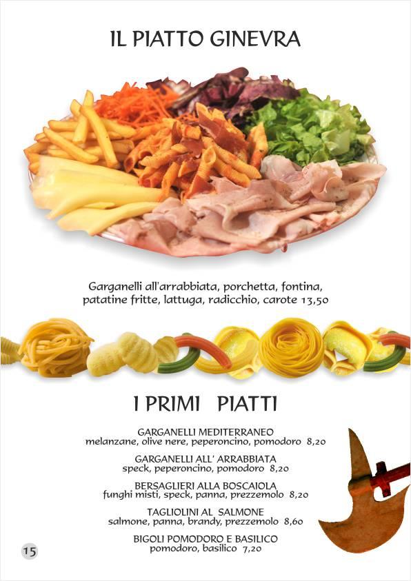 Re Artù menu web Primi Piatti unici Insalatone