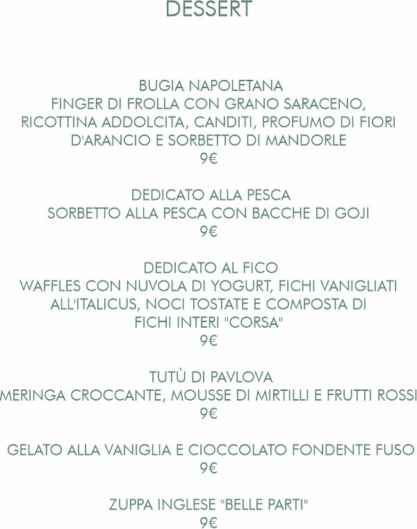 Belle Parti Dessert autunno 2021